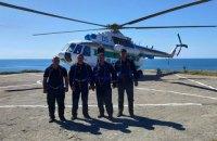 Українські прикордонники вперше за 12 років прилетіли на острів Зміїний