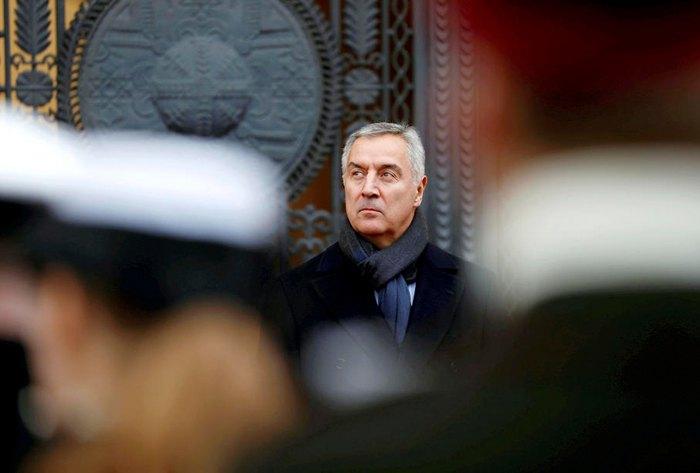 Мило Джуканович во время государственного визита в Литву