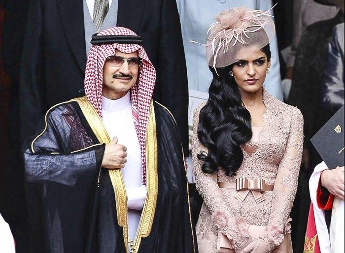 Саудовский принц Аль Валид Бин Талал и его супруга, принцесса Амира