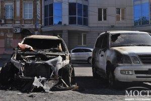 BMW Олейника поджгли двое неизвестных