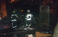 В Киеве во время пожара в нежилой постройке погибли два человека