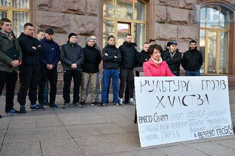 Активісти провели музичну акцію проти забудови на Сінному ринку