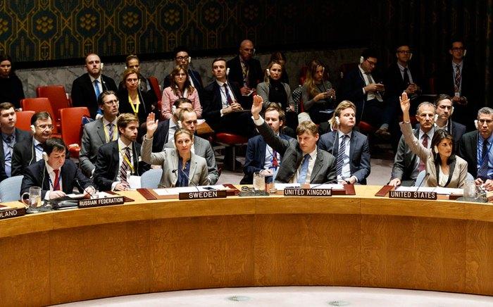 Під час наради Ради Безпеки ООН щодо напруженості між Росією та Україною в штаб-квартирі ООН в Нью-Йорку New Йорк, США, 26 листопада 2018.