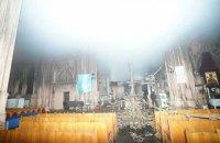 Пожежу в київському костелі Святого Миколая загасили