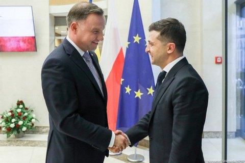 Зеленський привітав Дуду з перемогою на виборах і запросив в Україну