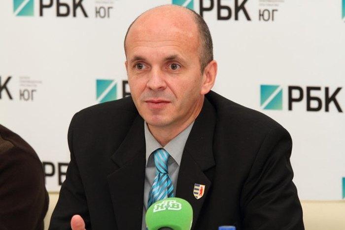 Петро Гецко на пресконференції в Ростові