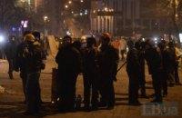 Ночь на Грушевского прошла без масштабных происшествий