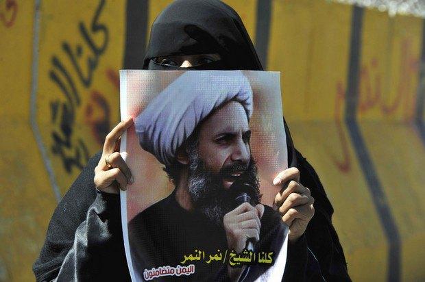 Фотография с акции в поддержку шейха Нимр аль-Нимр в Йемене
