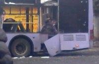 Міноборони: тролейбус у Донецьку обстріляли терористи