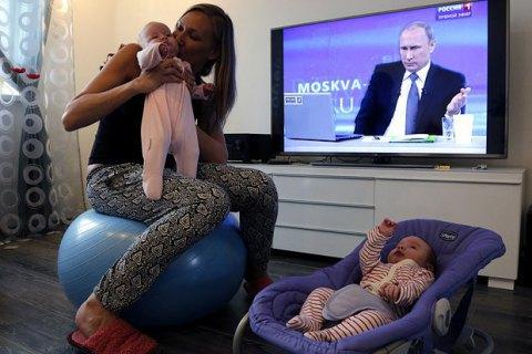 46% росіян упевнені в об'єктивності телебачення, - опитування
