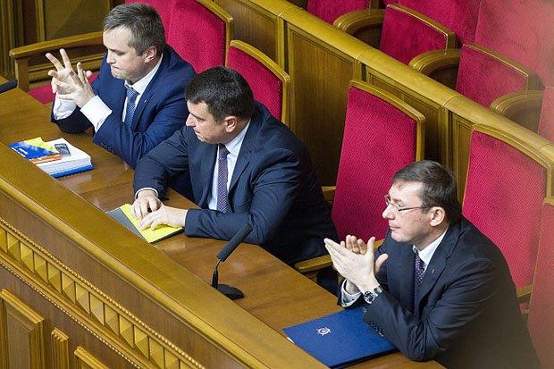 Руководители ГПУ, НАБУ и САП : Юрий Луценко, Артем Сытник и Назар Холодницкий