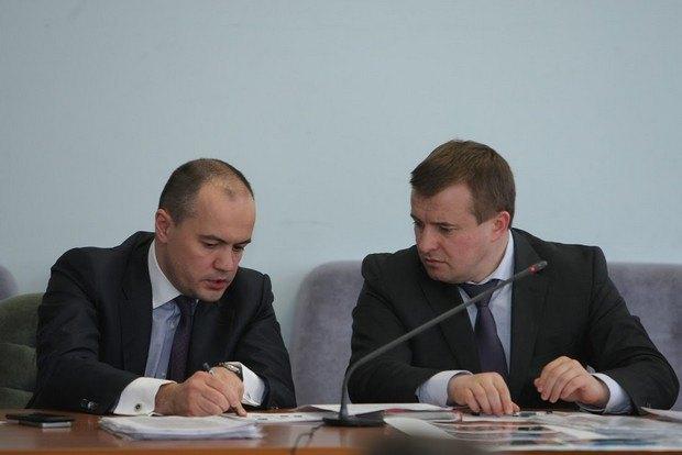 Глава ДТЕК Максим Тимченко і міністр Володимир Демчишин