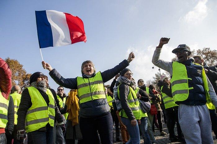 Протест в Парижі, 17 листопада 2018
