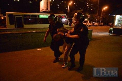 Міліція відпустила 40 осіб, затриманих на будівництві на Голосіївському проспекті