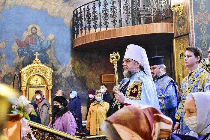 Митрополит Симеон під час богослужіння , 4 грудня 2019