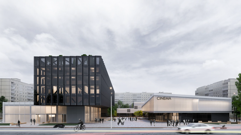 """Визуализация нового здания, которое может появиться вместо кинотеатра """"Загреб"""""""