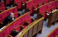 Рада досрочно закрылась из-за нехватки голосов