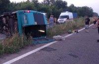 На Луганщині перекинулася маршрутка, дев'ять людей отримали травми