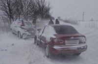 На Вінниччині сталося ДТП за участю службового авто поліції та легковика