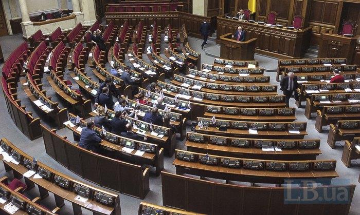 Количество депутатов, присутствующих на заседании Рады во второй половине пятницы перед затяжными каникулами