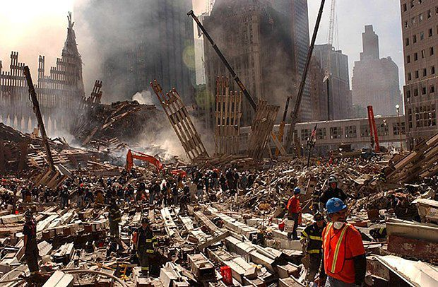 Развалины Всемирного торгового центра