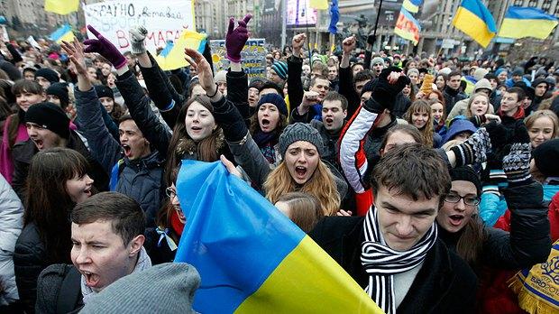 Студенты на Евромайдане