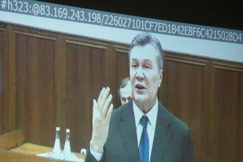 В суде над Януковичем объявлен перерыв до 18 мая для организации видеосвязи с ним