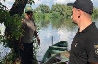 Полиция патрулирует берега речки Рось из-за химикатов