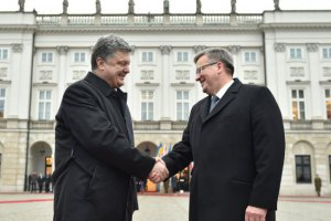 Порошенко во вторник встретится с президентом Польши