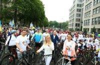 Светличная дала старт масштабному Велодню в Харькове, собравшему рекордные 25 тысяч участников