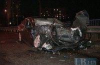 В Киеве на проспекте Науки в масштабной аварии пострадало два человека
