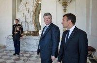 Порошенко призвал Макрона усилить давление на РФ для освобождения украинских политзаключенных
