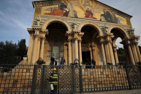 Католицька церква біля Гетсиманського саду постраждала від підпалу