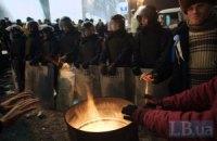 В Харькове Евромайдан поблагодарил милицию за обеспечение порядка