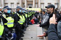У Лондоні сталися сутички під час акції проти карантинних обмежень, постраждали поліцейські і демонстранти