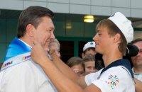 Янукович рассказал детям, как стать президентом