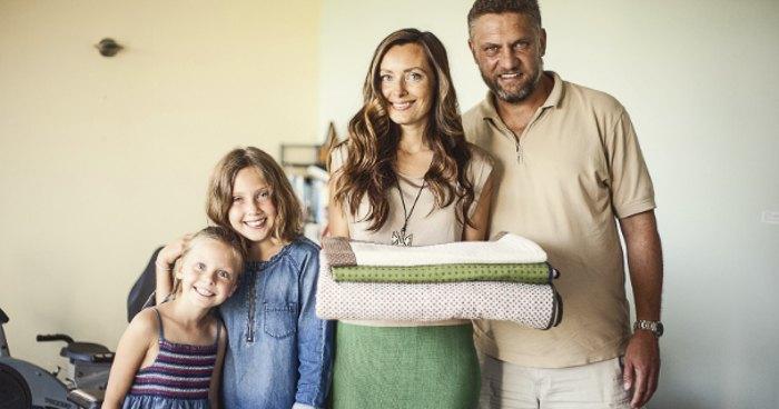 Оксана с семьей