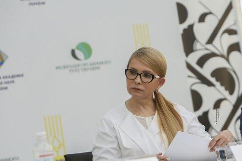 Тимошенко призывает продлить мораторий на продажу земли