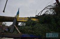 На Софийской площади установили главную новогоднюю елку Украины