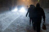 Через снігопади обмежено рух на дорогах у п'яти областях