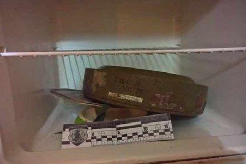 Житель Винницы хранил в холодильнике противотанковую мину