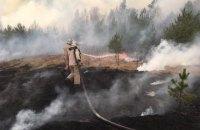 У Житомирській область дев'ятий день не можуть погасити лісову пожежу, викликану підпалом сухої трави