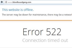 """Хакеры из Украины """"положили"""" сайт Bloodhound Gang"""
