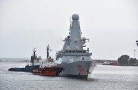 В порт Одессы вошел британский эсминец Dragon