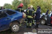 На Львівщині внаслідок зіткнення чотирьох автівок загинули троє людей