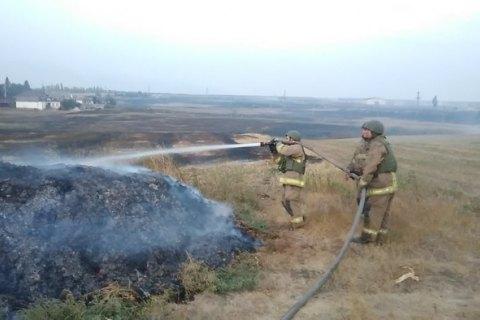 Причиной пожара на складе боеприпасов возле Мариуполя стал поджог стерни на соседнем поле