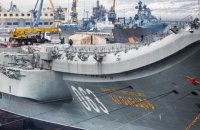 """Пожар на российском крейсере """"Адмирал Кузнецов"""" тушили более суток (Обновлено)"""