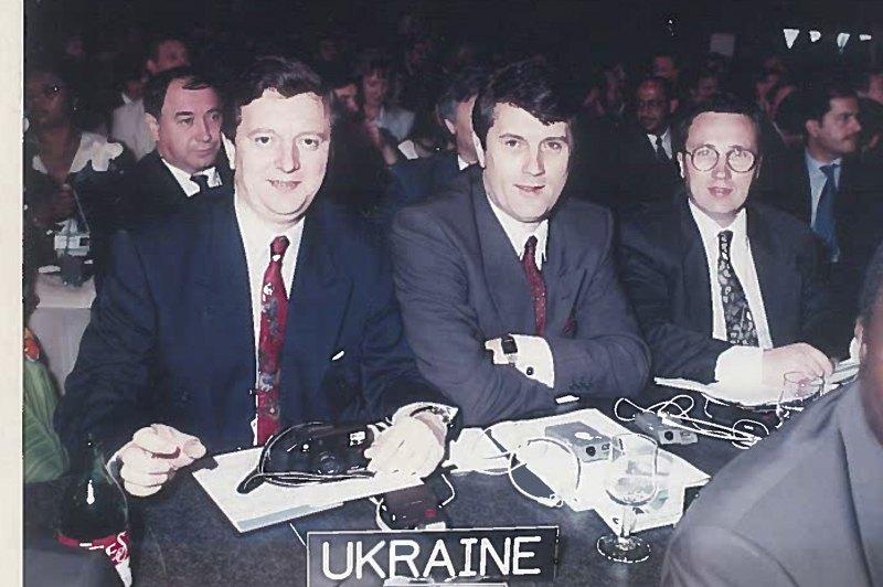 Роман Шпек з Віктором Ющенком та Ігорем Мітюковим