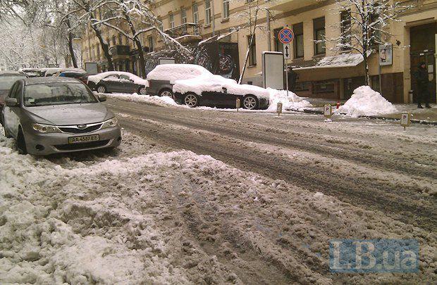 А это - улица Городецкого, проезжая часть