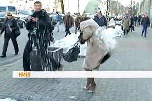 Неизвестные забросали депутатов от ПР землей и снегом